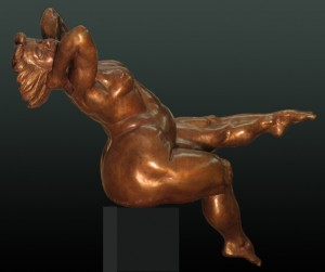 Sungoddess 13 x 15 x 6 inches, New edition of 15, Bronze